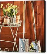 Spring Gardening Canvas Print by Amanda And Christopher Elwell