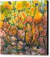 Spring Time Flowers Canvas Print by Audrey Peaty