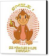 Spunky The Monkey Canvas Print by John Keaton