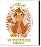 Spunky The Monkey Canvas Print by John Keaton