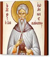 St John Climacus Canvas Print by Julia Bridget Hayes