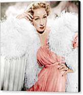 Stage Fright, Marlene Dietrich Wearing Canvas Print by Everett