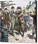 Stagecoach Robbery, 1880s Canvas Print by Granger