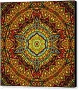 Stained Glass Gas Ring Mandala Canvas Print by Richard H Jones
