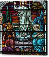 Stained Glass Jesus Canvas Print by Anthony Citro
