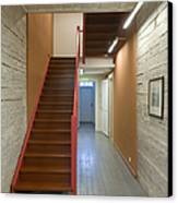 Staircase In Old Building Canvas Print by Jaak Nilson