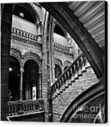 Stairs And Arches Canvas Print by Martin Williams