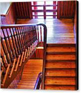 Stairway In Old Naval Hospital Canvas Print by Steven Ainsworth