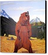 Standing Grizzly  Canvas Print by Mickael Bruce