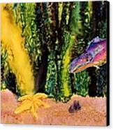 Star Fish Canvas Print by Carolyn Doe