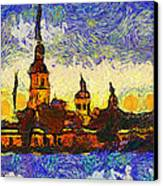 Starred Saint Petersburg Canvas Print by Yury Malkov
