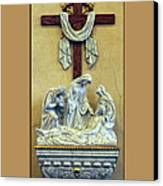 Station Of The Cross 13 Canvas Print by Thomas Woolworth