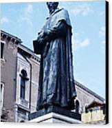 Statue Of Paolo Sarpi, Venetian Scientist Canvas Print by Sheila Terry