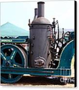 Steam Powered Roller 7d15116 Canvas Print by Wingsdomain Art and Photography