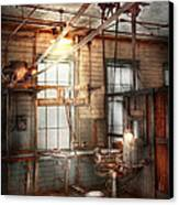 Steampunk - Machinist - The Grinding Station Canvas Print by Mike Savad