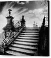 Steps At Chateau Vieux Canvas Print by Simon Marsden