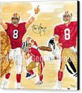 Steve Young - Hall Of Fame Canvas Print by George  Brooks