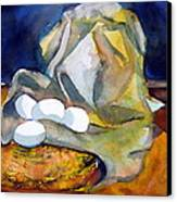 Still Life With Eggs Canvas Print by Mindy Newman