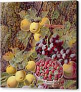 Still Life With Fruit Canvas Print by Oliver Clare