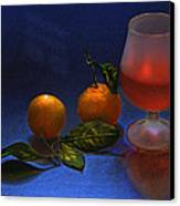 Still Life With Tangerins Canvas Print by Vladimir Kholostykh