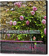 Stop And Smell The Roses Canvas Print by Debra and Dave Vanderlaan