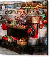 Store - Ny - Chelsea - Fresh Fruit Stand Canvas Print by Mike Savad