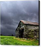 Stormy Barn Canvas Print by Cale Best