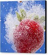 Strawberry Soda Dunk 1 Canvas Print by John Brueske