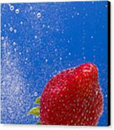 Strawberry Soda Dunk 4 Canvas Print by John Brueske