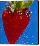 Strawberry Soda Dunk 7 Canvas Print by John Brueske