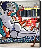 Street Life Rio De Janeiro Canvas Print by Joe Rondone