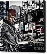 Street Phenomenon 50 Cent Canvas Print by The DigArtisT