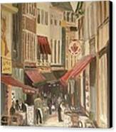 Street Scene In Brussels Canvas Print by Veronica Coulston
