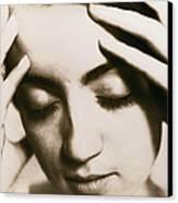 Stressed Woman Canvas Print by Cristina Pedrazzini