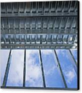 Structural Steel Construction Of An Canvas Print by Don Mason