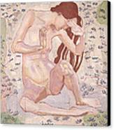 Study For Day Canvas Print by Ferdinand Hodler