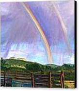 Summer Rain At The Ranch Canvas Print by Rita Lackey