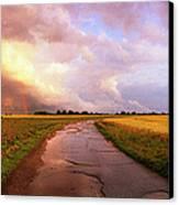 Summer Storm Raf Lavenham Canvas Print by Jan W Faul