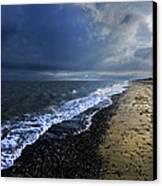 Sun Light On Dunwich Beach Canvas Print by Darren Burroughs