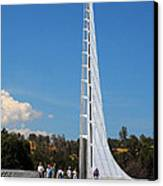 Sundial Bridge - This Bridge Is A Glass-and-steel Sculpture Canvas Print by Christine Till