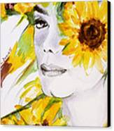 Sunflower Close-up Canvas Print by Hitomi Osanai