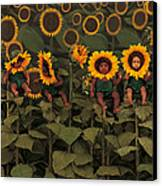 Sunflowers Canvas Print by Anne Geddes