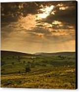 Sunrays Through Clouds, North Canvas Print by John Short