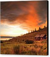 Sunrise At Bear Lake Canvas Print by Charlene Heslop