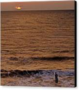 Sunrise At Jacksonville Canvas Print by Joe Bonita
