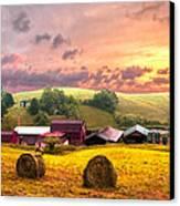 Sunrise Pastures Canvas Print by Debra and Dave Vanderlaan