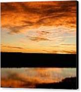 Sunrise Reflections Canvas Print by Sara  Mayer