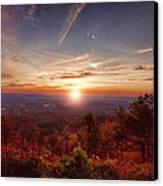 Sunrise-talimena Scenic Drive Arkansas Canvas Print by Douglas Barnard