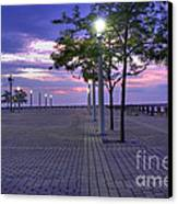 Sunset At The Plaza Canvas Print by David Bearden