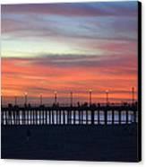 Sunset In San Diego Canvas Print by Karen Becker